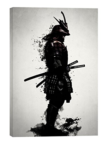 "Epic Graffiti ""Armored Samurai"" by Nicklas Gustafsson, Giclee Canvas Wall Art, 18″x26″"