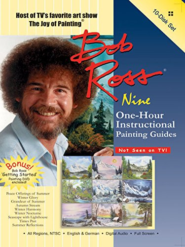 Bob Ross: The Joy of Painting - Nine 1-Hour Instructional Guides 10 DVD Gift Set