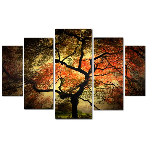 "Trademark Fine Art ""Japanese"" Multi Panel Art Set by Philippe Sainte-Laudy"