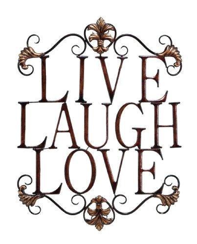 Live Laugh Love Modern Abstract Metal Wall Art Home Decor Decoration 28″h, 21″w