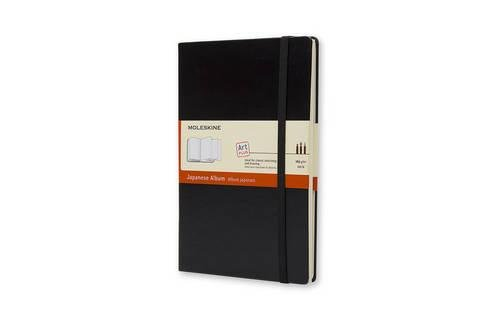 Moleskine Art Plus Japanese Album, Large, Black, Hard Cover (5 x 8.25) (Classic Notebooks)