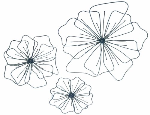 Gardman 8422 Poppy Wall Art, Three Pieces: Large 17″ Wide, Medium 12″ Wide, Small 8″ Wide