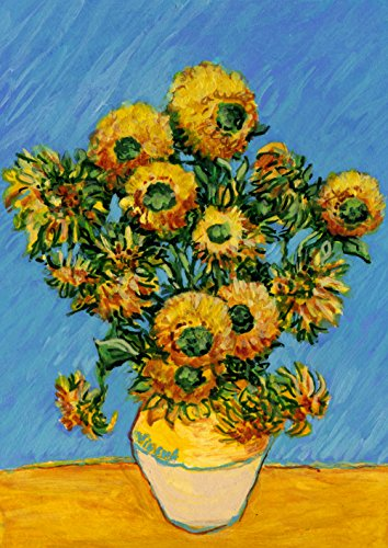 Toland Home Garden Van Gogh's Sunflowers-Decorative Flower Painting Spring Summer House Flag